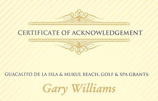 Certificate of Acknowledgement / Strategic Partnership ...